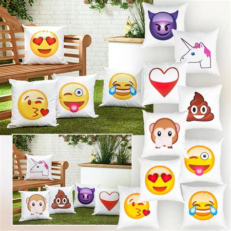 bench emoji garden waterproof emoji print scatter cushions ready