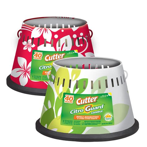shop cutter 4 in floral painted deck citronella candle at