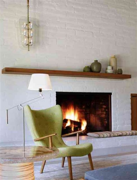 mid century fireplace white brick fireplace with wooden mantle home sweet home