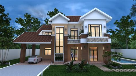 villa house plans 2018 3 bedroom villa design 16 8x11m sam phoas home