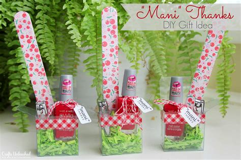 Craft Gift - diy gift idea for quot thanks quot manicure set