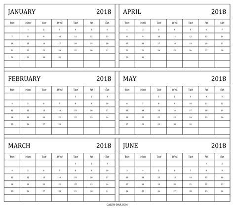 six month calendar template 6 month free printable 2018 calendar calendar monthly 2018