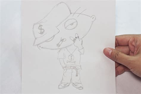 how to make doodle how to draw gangster stewie 9 steps with pictures wikihow