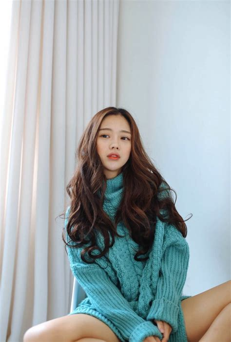 beach waves korean hair need a sweater like this fashion pinterest ulzzang