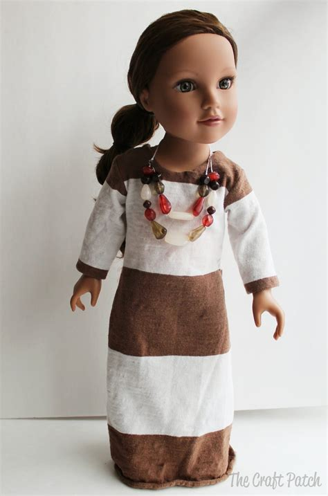 American Girl Doll Basic Knit Dress Pattern And Tutorial Thecraftpatchblog Com American Doll Clothes Templates