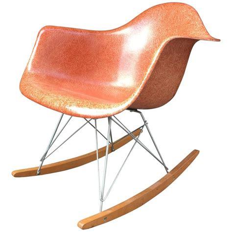 Herman Miller Rocking Chair by Herman Miller Eames Terra Cotta Rar Rocking Chair At 1stdibs