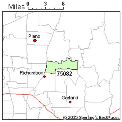 richardson texas zip code map best place to live in richardson zip 75082 texas