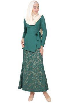 Dress Batik Terusan Peplum Sepan Formal Pesta Big Size Ukuran Besar Xl vercato nurin peplum kurung www vercato baju kurung moden vercato