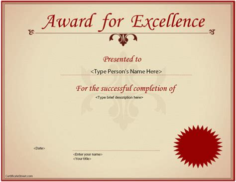 Excellence Certificate Award Certificate Template 23 In Psd Pdf