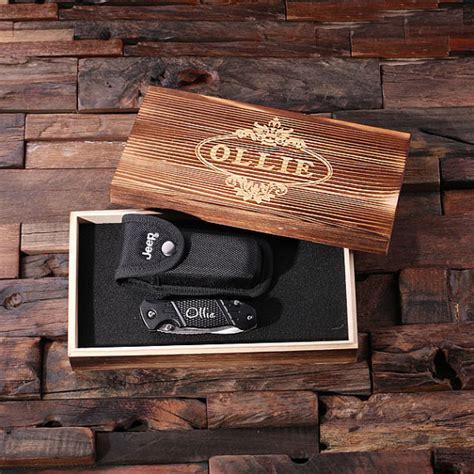 jeep wood box personalized jeep utility knife w case wood box