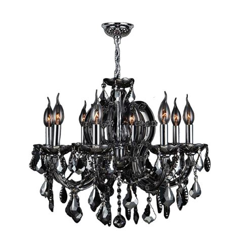 Black Chandelier With Crystals Worldwide Lighting Provence Collection 15 Light Chrome With Black Chandelier W83107c33