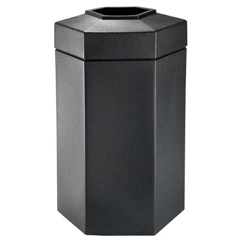 scow back waste containers black hex 50 gallon outdoor garbage can trash cans