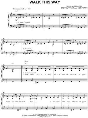 "Aerosmith ""Walk This Way"" Sheet Music - Download & Print"
