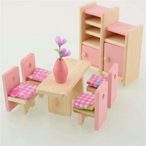 muneca de madera comedor casa muebles munecas munecas alta