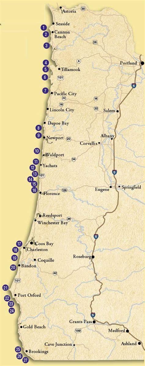 tidepool map for oregon coast oregon coast pinterest