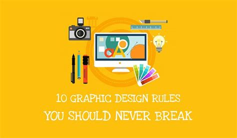 homepage design rules 10 graphic design rules infographic