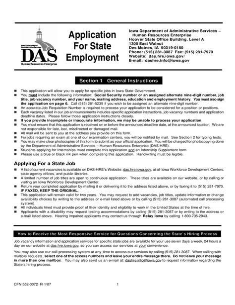 Iowa Section 8 Application by Application For Employment Iowa Free