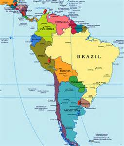 map of south america and america map of south america countries and capitals
