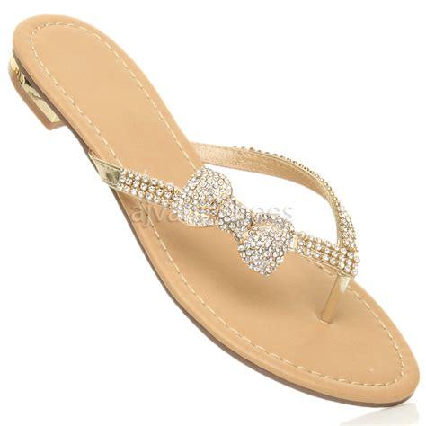 Heel Sandals For Wedding by Womens Low Heel Flat Wedding Summer Prom Flip