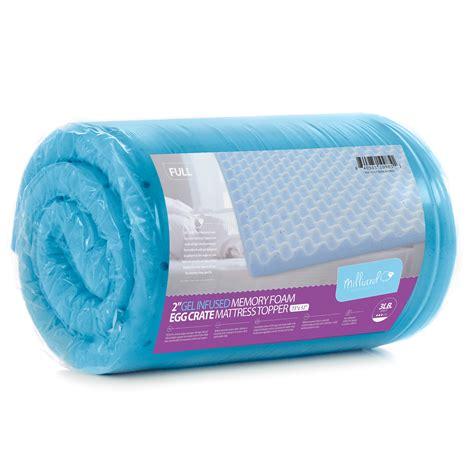 egg crate gel infused memory foam mattress topper