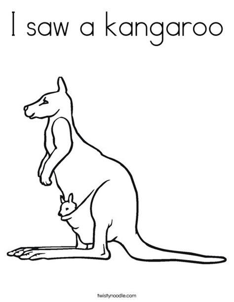 santa kangaroos coloring pages i saw a kangaroo coloring page twisty noodle