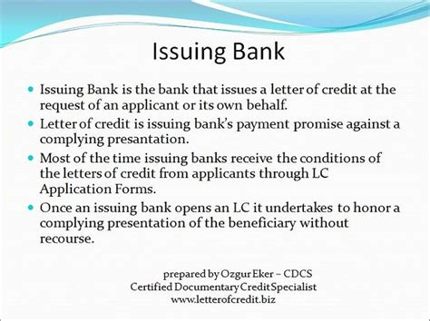 Letter Of Credit Banks Involved To Letter Of Credit Presentation 2 Lc