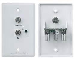 tv satellite receptacle rv 7542