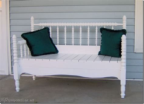 How To Make A Headboard And Footboard by Headboard To Footboard Bench Recycled Furniture