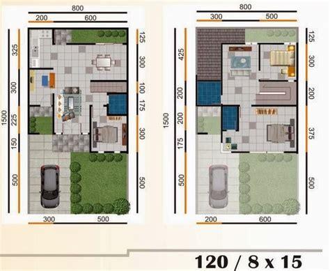 40 Desain Rumah Di Lahan Khusus Yosica Mariana Dkk denah desain rumah minimalis type 120 1 2 lantai