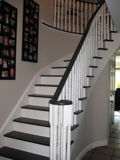 Home Decorators Lighting black and white stairs traditional hall toronto by