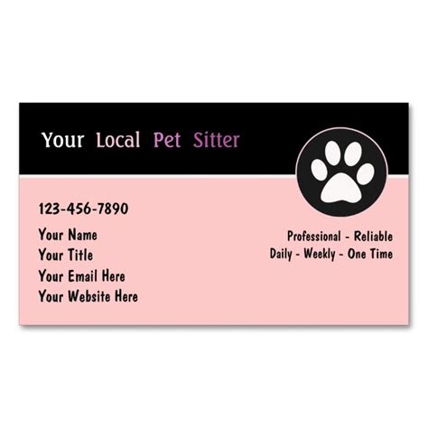 Pet Sitter Business Cards Templates by Top 25 Ideas About Animal Pet Care Business Card Templates