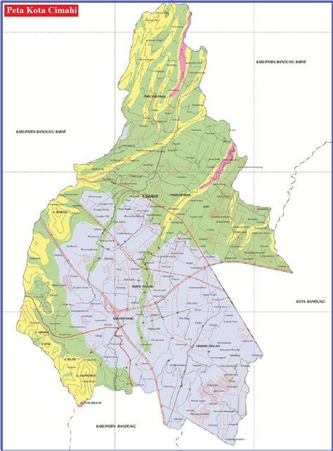 peta kota cimahi hd lengkap provinsi jawa barat peta hd