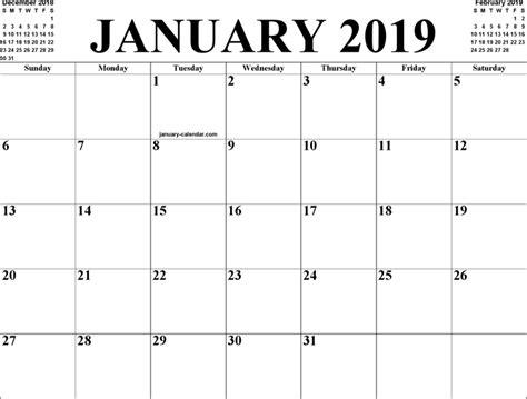 printable calendar january 2019 january 2019 calendar 2018 calendar printable
