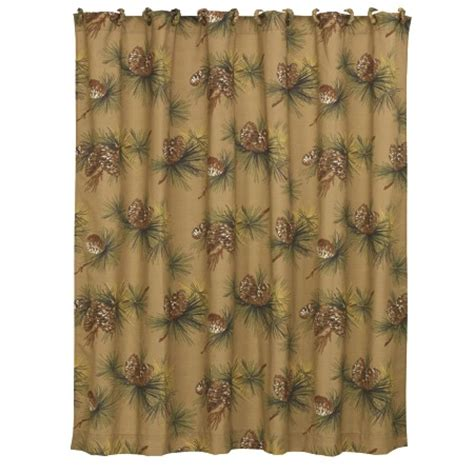 pine cone shower curtain crestwood pine cone rustic shower curtain tan