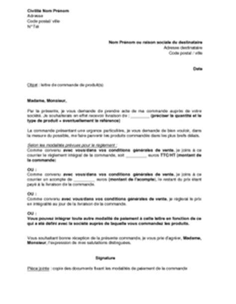 Exemple De Lettre Pour Vendre Produit Lettre Type Commande Lettre De Motivation 2017
