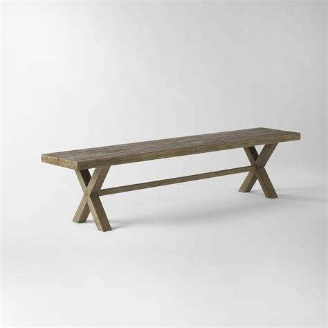 west elm benches jardine bench modern outdoor benches by west elm