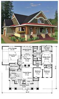 Craftsman Bungalow Floor Plans by Bungalow House Plans On Pinterest Bungalow Floor Plans