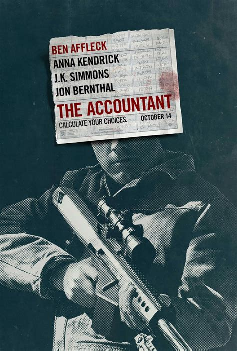 the accountant the accountant 2016 poster 1 trailer addict