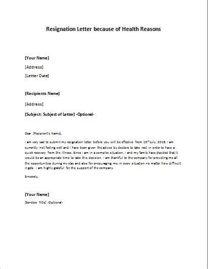 sample resignation letters for personal reasons 5 examples in