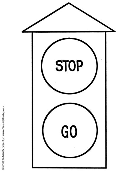 pre k coloring pages free printable stoplight