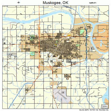 map of muskogee oklahoma muskogee ok pictures posters news and on your