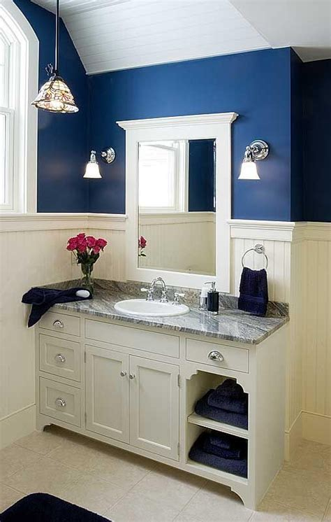 navy and white bathroom towels towel storage and vanities on pinterest
