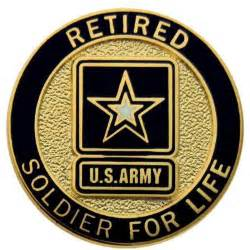 Large Jewelry Boxes Armoires Retired Army Lapel Button Soldier For Life Soldier For