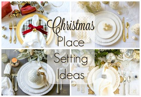 christmas place setting ideas place setting ideas for the table