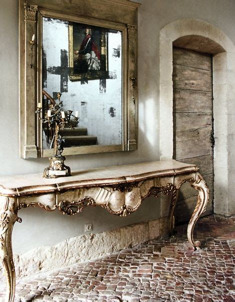 Entry Console Table With Mirror Linen And Lavender Mirror Console Table Foyer Ornate Decor Room Home Gustavian