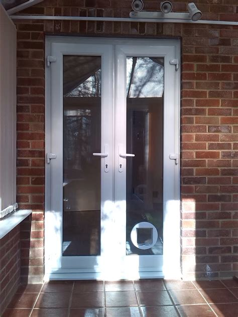 cat flaps in glass doors new upvc doors and a cat flap installed window wizards