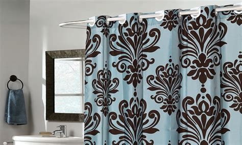no hook shower curtain beacon hill ez on no hooks needed fabric shower curtain