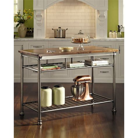 Metal Island Kitchen with Orleans Gun Metal Kitchen Island