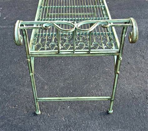 plant benches stands garden bench plant stand wrought iron antique mint