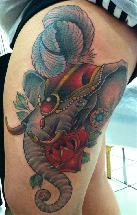 elephant headdress tattoo circus elephant headdress